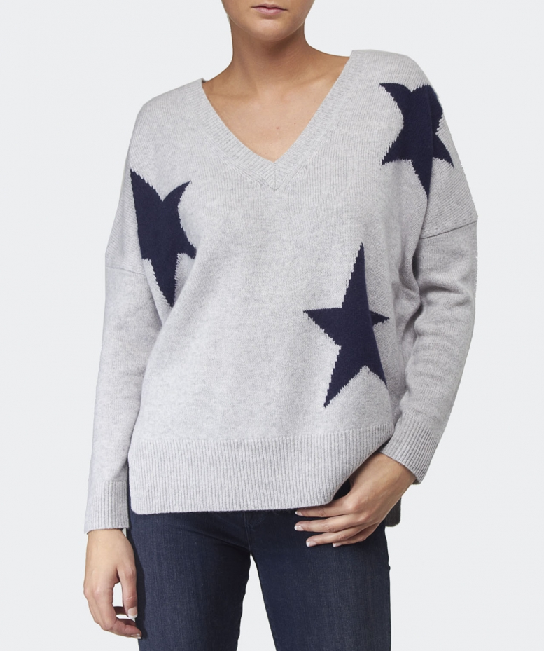 360 Sweater Cassie Star Cashmere Sweater Available At Jules B