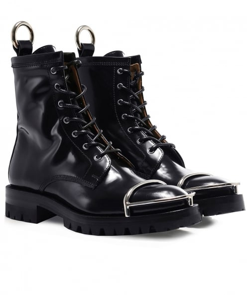 Alexander Wang Patent Leather Lydon Biker Boots
