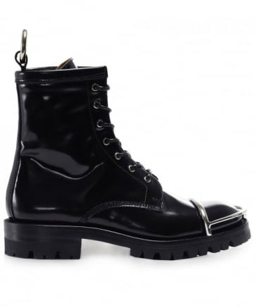 Patent Leather Lydon Biker Boots