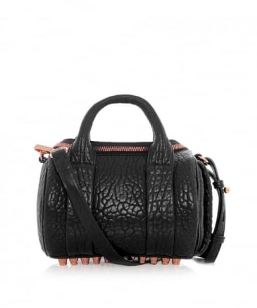 Pebbled Leather Mini Rockie Bag