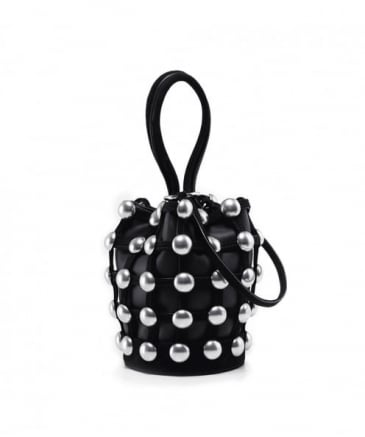 Studded Roxy Mini Cage Bucket Bag
