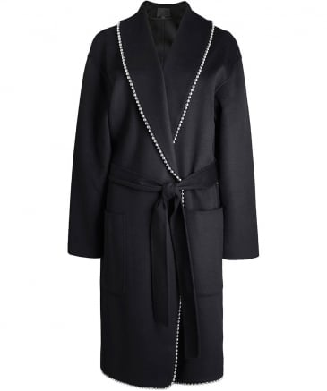 Wool Bathrobe Chain Coat