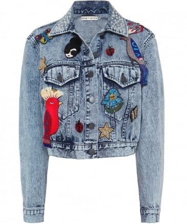 Embellished Chloe Cropped Denim Jacket