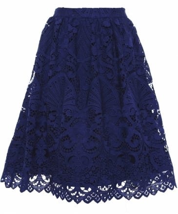 Joyce Knee Length Lace Skirt