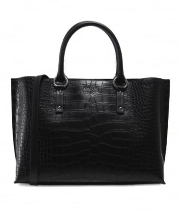Borsa Crocodile Effect Shopper Bag
