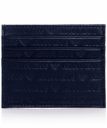 Leather Logo Card Wallet
