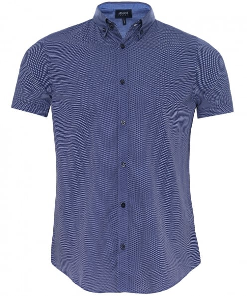 Armani Jeans Regular Fit Fine Check Shirt