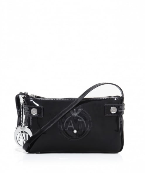 Armani Jeans Small Patent Shoulder Bag