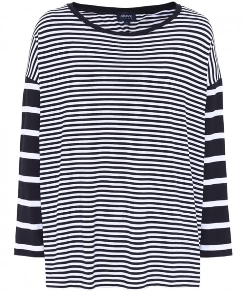 Armani Jeans Striped Long Sleeved Top