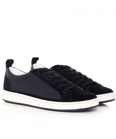 Armani Jeans Suede & Leather Trainers