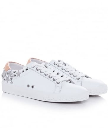 Dazed Leather Studded Trainers