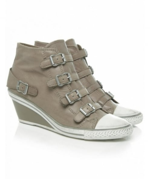 Ash Genial Buckle Wedge Trainers