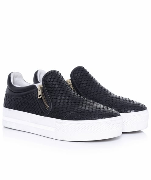 Ash Jordy Python Effect Leather Trainers