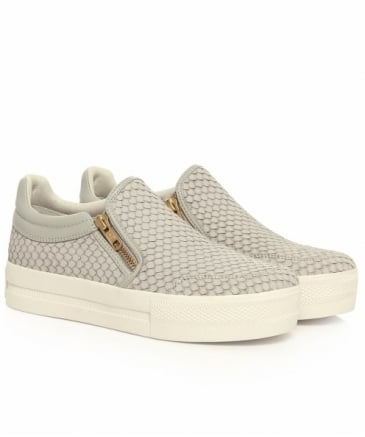 Jordy Python Effect Leather Trainers