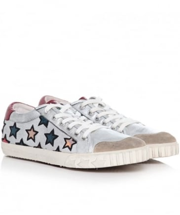 Leather Majestic Star Motif Trainers