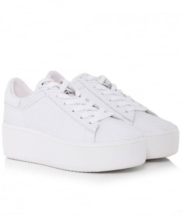 Leather Snake Effect Cult Trainers