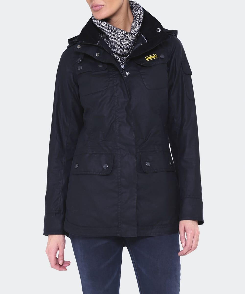 Babour International Navy Switch Wax Parka Jacket | Jules B