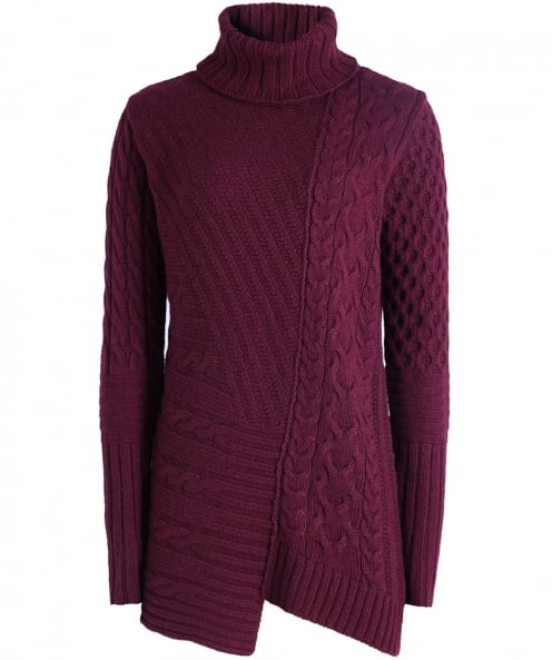 Barbour International Wool Mondello Cable Knit Jumper