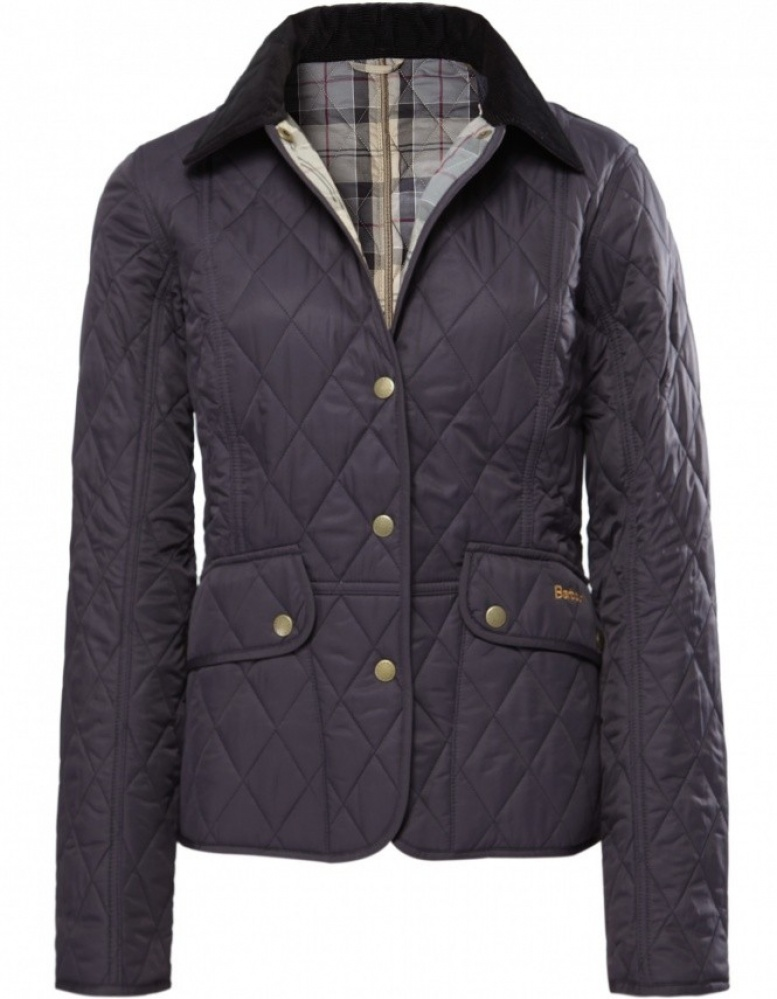 women barbour international quilted jacket purple -