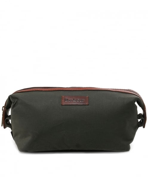 Barbour Dry Wax Convertible Wash Bag