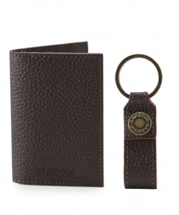 Grain Leather Card Holder & Keyring