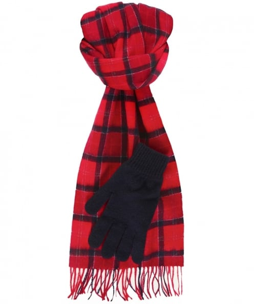 Barbour Lambswool Scarf & Gloves Gift Set