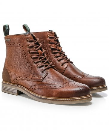 Leather Belsay Brogue Boots