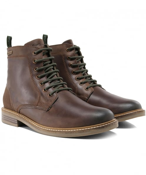 Barbour Leather Byker Lace-Up Boots