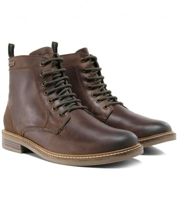 Leather Byker Lace-Up Boots