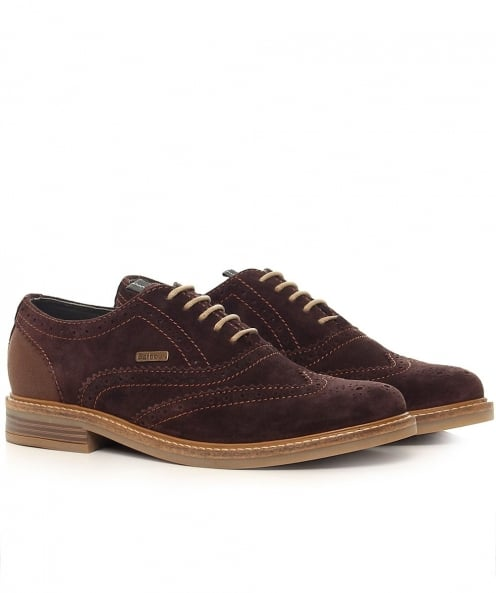Barbour Redcar Suede Oxford Brogues