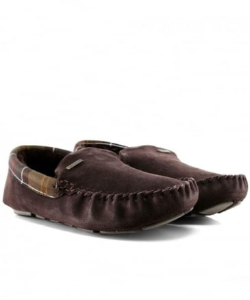 Suede Moccasin Monty Slippers
