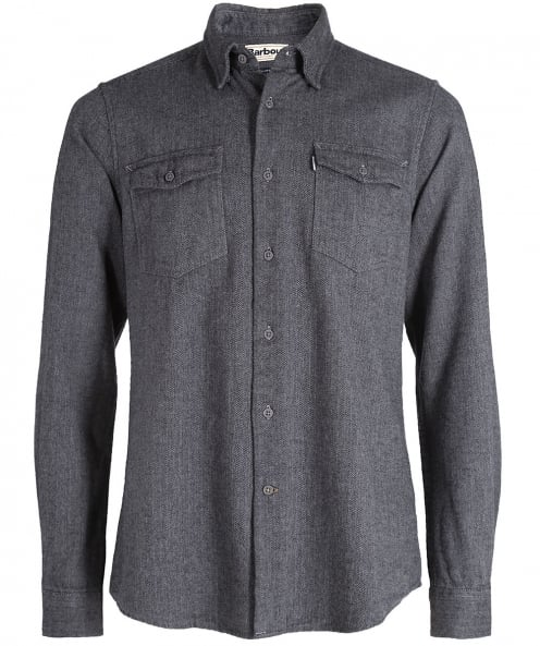Barbour Tailored Fit Herringbone Port Shirt