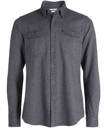 Tailored Fit Herringbone Port Shirt