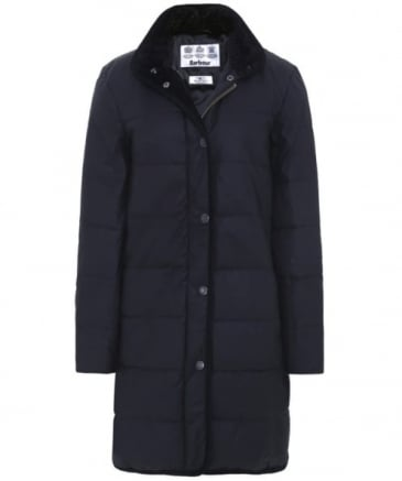 Waxed Baffle Quilted Coat