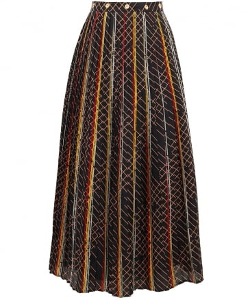 Saxona Pleated Midi Skirt