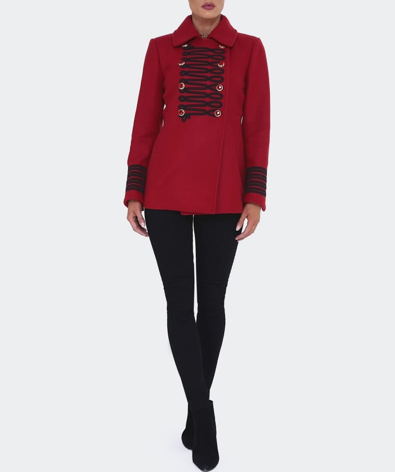 Bazar Deluxe Red Military Jacket | Jules B