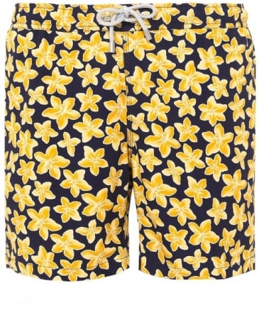 Mid Length Arthur Navy Lily Swim Shorts