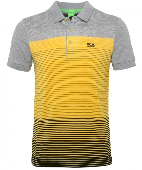 BOSS Green Jersey Striped Paddy 3 Polo Shirt