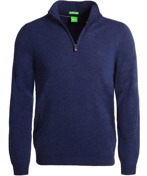 BOSS Green Virgin Wool Half-Zip C-Ceno_03 Jumper