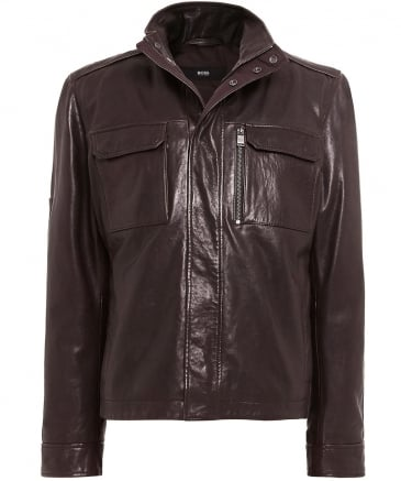 Leather Gwendon Jacket
