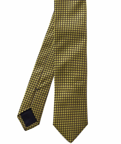BOSS Micro Check Silk Tie