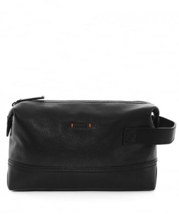 Leather Streetline Wash Bag