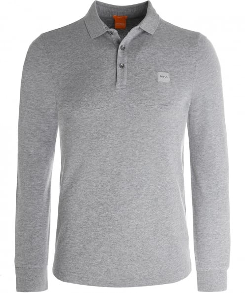 BOSS Orange Long Sleeve Paulyn Polo Shirt