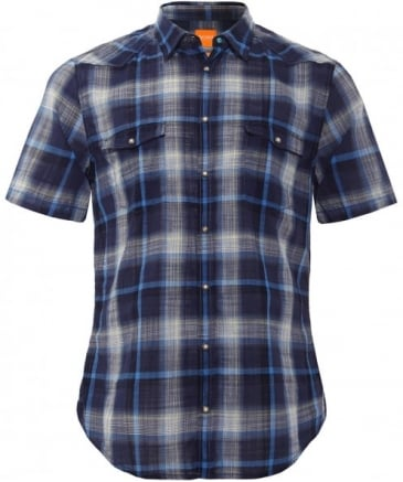 Slim Fit Short Sleeve Erodeo Check Shirt
