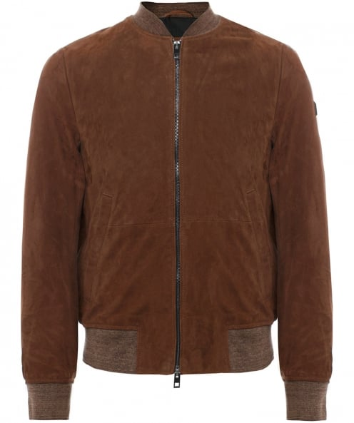 BOSS Orange Suede Bomber Jacket