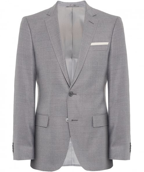 BOSS Slim Fit Silk Blend Hutsons3 Jacket