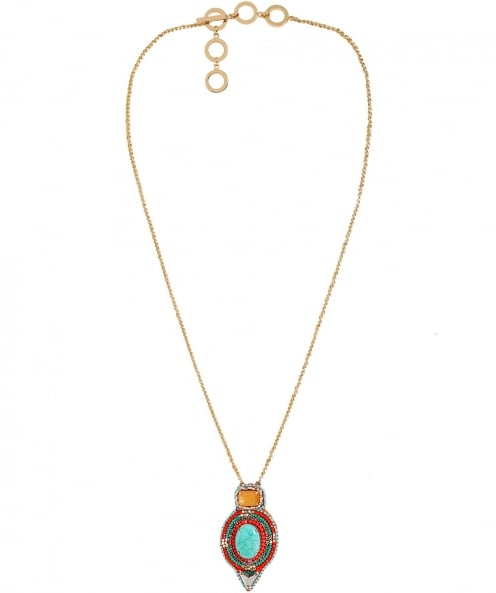 Butterfly Beaded Columbia Road Pendant Necklace