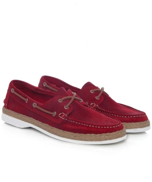 Campobello Leather Hammer Boat Shoes