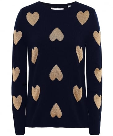 Merino Wool Heart Jumper