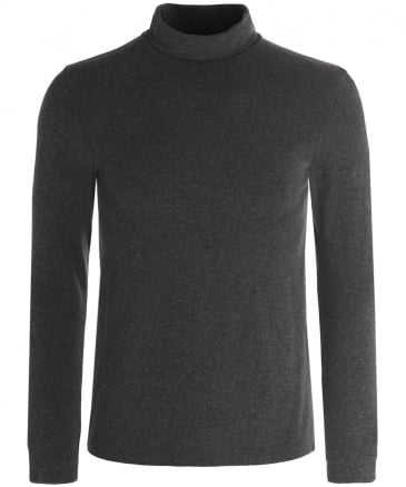 Jersey Melange Roll Neck Jumper
